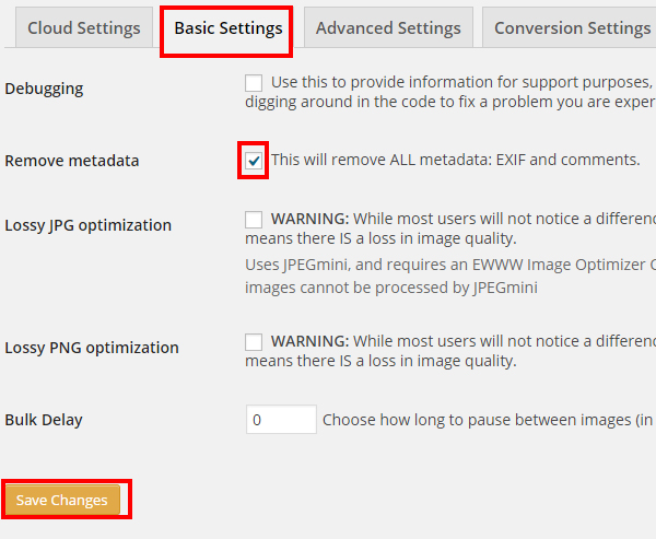 EWWW Image Optimizerの基本設定