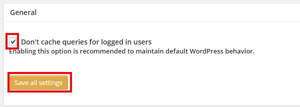W3 Total Cacheデータベースキャッシュの全体設定
